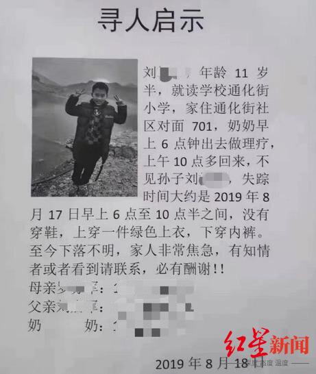 湖南11岁男孩遇害婶婶是嫌疑人 母亲怀疑还有同伙