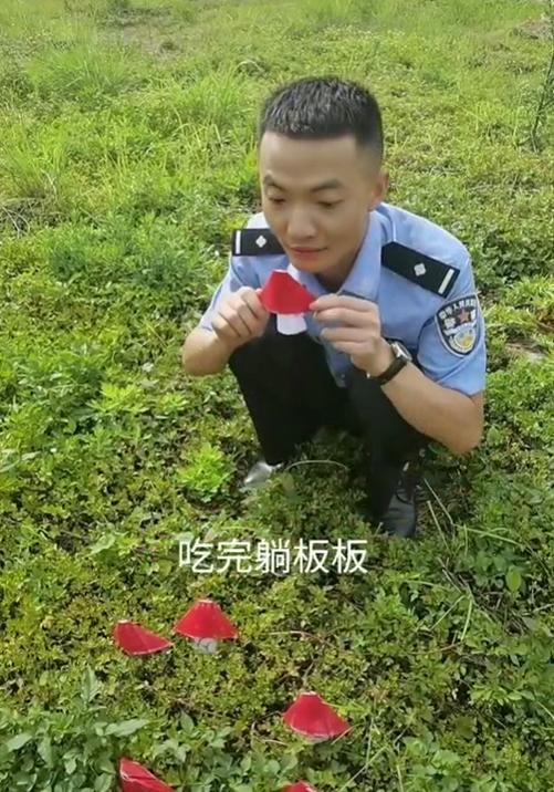 """云南山歌版""""红伞伞白杆杆""""预防野生菌中毒视频火了 演唱民警是四川人"""